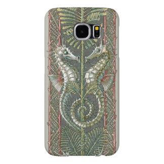 Animales marinos de los Seahorses del vintage, Fundas Samsung Galaxy S6