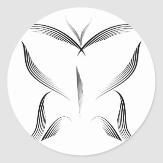 Animales - mariposa pegatina redonda