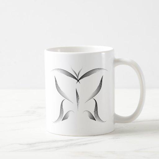 Animales - mariposa taza básica blanca