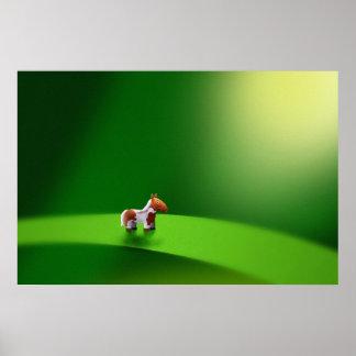 Animales micro - caballo póster
