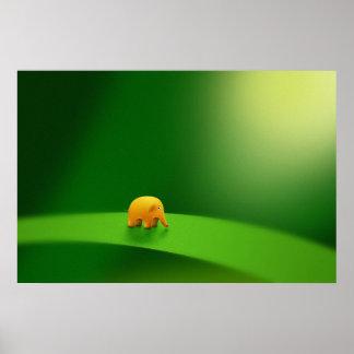 Animales micro - elefante póster