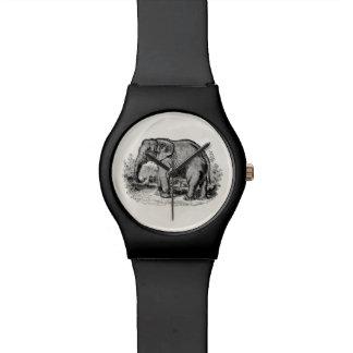 Animales personalizados elefante de los elefantes relojes de mano