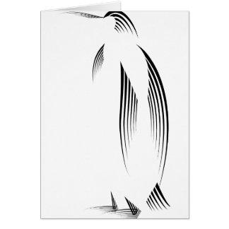 Animales - pingüino tarjeta de felicitación