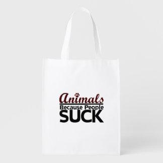 Animales porque la gente chupa bolsas de la compra