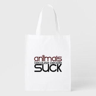 Animales porque la gente chupa bolsas para la compra