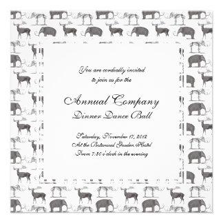 Animales prehistóricos - mamut lanoso y Megaceros Invitaciones Personalizada