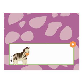 Animales programables de la púrpura de Jacana de l Tarjetas Postales
