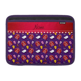 Animales púrpuras conocidos personalizados del fundas para macbook air