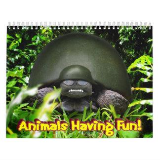 "¡""Animales que se divierten! "" Calendario"