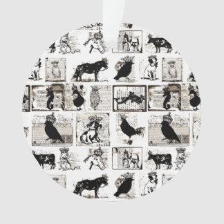 Animales reales blancos y negros del vintage