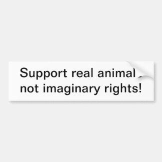 Animales reales de la ayuda pegatina para auto