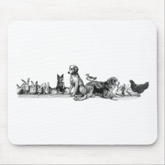 Animales rescatados alfombrillas de ratón