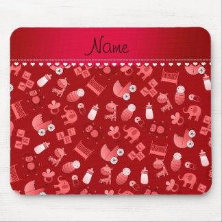 Animales rojos conocidos personalizados del bebé tapete de ratón