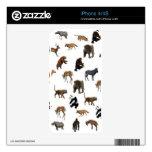 Animales salvajes calcomanías para el iPhone 4