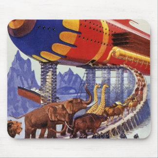 Animales salvajes de la arca de Noah de la ciencia Alfombrillas De Ratón