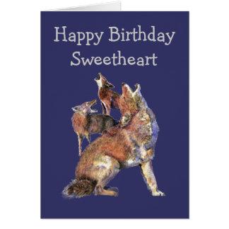 Animales salvajes de los coyotes de la diversión d tarjeta de felicitación