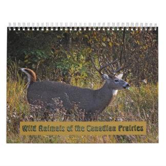 Animales salvajes del calendario canadiense de las