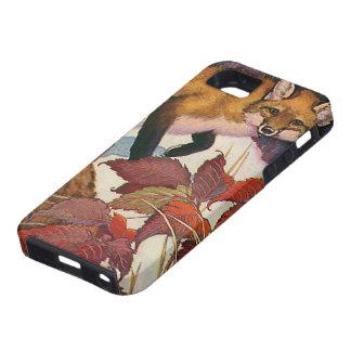 Animales salvajes del vintage, criatura del bosque iPhone 5 Case-Mate carcasas
