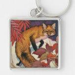 Animales salvajes del vintage, criatura del bosque llavero personalizado