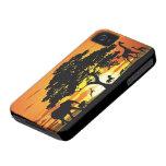 Animales salvajes en el caso del iPhone 4 de la iPhone 4 Case-Mate Coberturas