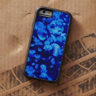 Animales subacuáticos azules de neón que brillan funda de iPhone 6 tough xtreme