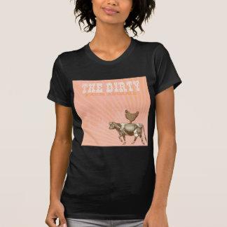 Animales sucios, vaca de Brown del pollo de Brown Camisetas