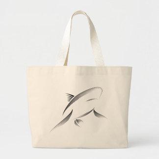 Animales - tiburón bolsa tela grande