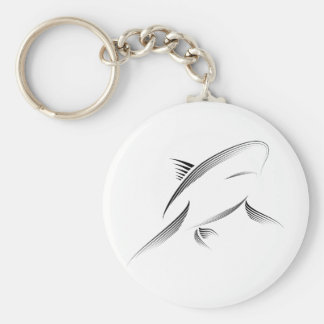 Animales - tiburón llavero redondo tipo pin