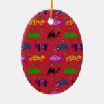 Animales - tortugas púrpuras y elefantes azules ornatos