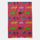Animales - tortugas púrpuras y elefantes azules toallas de cocina