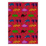 Animales - tortugas púrpuras y elefantes azules tarjetas
