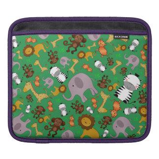 Animales verdes del safari de selva manga de iPad