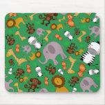Animales verdes del safari de selva tapetes de raton