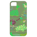 Animales verdes iPhone 5 protector