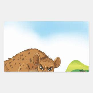 Animales y campo pegatina rectangular