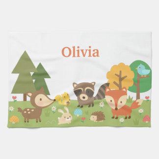 Animales y criaturas lindos del bosque del toallas