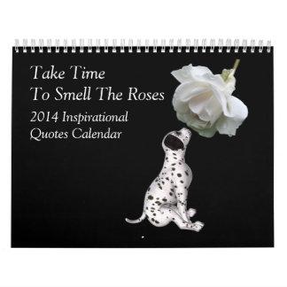 Animales y flores inspirados 2014 de las citas calendarios de pared