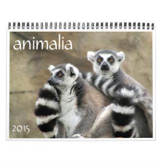 animalia 2015 calendario de pared