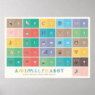 Animalphabet poster