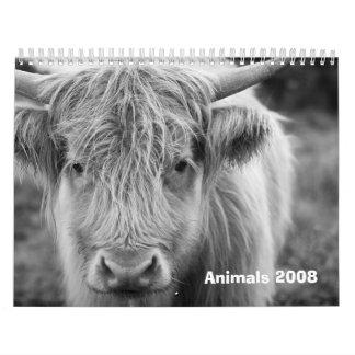 Animals 2008 calendar