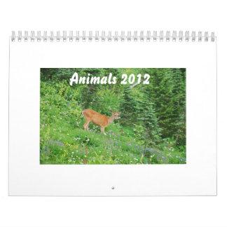 Animals 2012 wall calendar