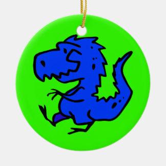 animals-24742  animals dinosaurs dino dinosaur ani Double-Sided ceramic round christmas ornament