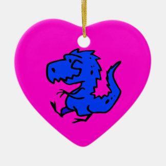animals-24742  animals dinosaurs dino dinosaur ani Double-Sided heart ceramic christmas ornament