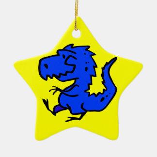 animals-24742  animals dinosaurs dino dinosaur ani Double-Sided star ceramic christmas ornament