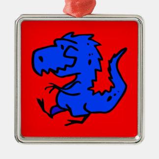 animals-24742  animals dinosaurs dino dinosaur ani square metal christmas ornament