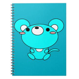 animals-30792 CUTE CARTOON  animals mouse cartoon Spiral Notebook