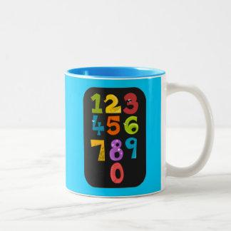animals-40904 animals school NUMBERS COLORFUL educ Two-Tone Coffee Mug