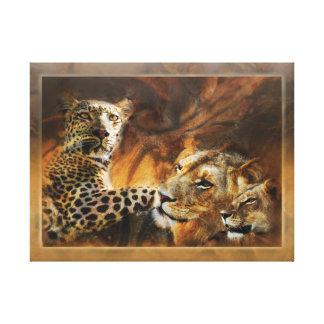 Animals Africa leopard lion art Canvas Print