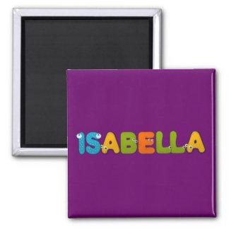 animals alphabet Isabella 2 Inch Square Magnet
