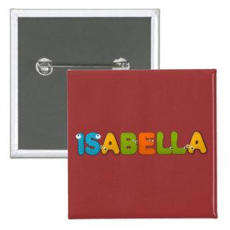 animals alphabet Isabella Pinback Button